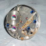 Steampunk Ring Vintage Watch Movement Swarovski