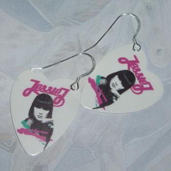 Guitar Pick Earrings Jessie J Double