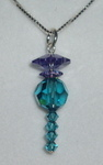 Thistle Charm Pendant Swarovski Crystal Ceilidh Wedding Scottish