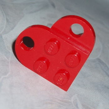Lego Heart Ring Bright Red Rockabilly Retro Swarovski