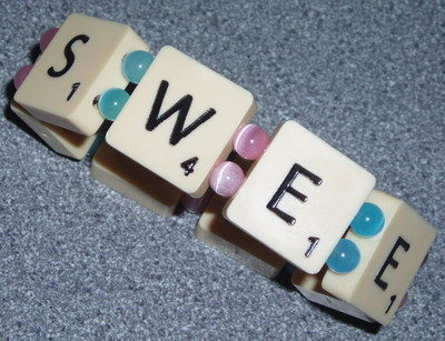 Scrabble Bracelet 7 Tile Vintage Word Name Letters J K Available