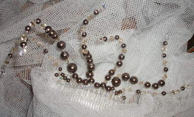 Fascinators Bespoke Pearl Crystal Feather Wedding Prom