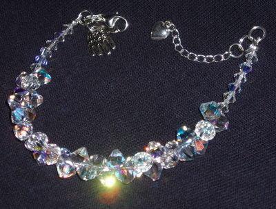 Swarovski cluster bracelet