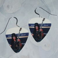 guns n roses earrings black guitar