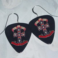 guns n roses earrings cross