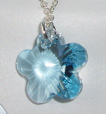 Swarovski Crystal Pendant Christening Baptism Heart Cross Flower