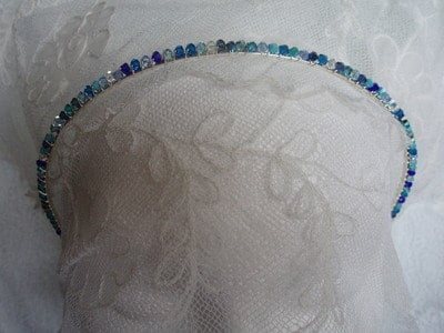 Headbands Plain Swarovski Crystal  Bridesmaid Flower Girl