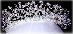 Tiara Snowqueen Swarovski Crystal Crowning Glory Bride Wedding