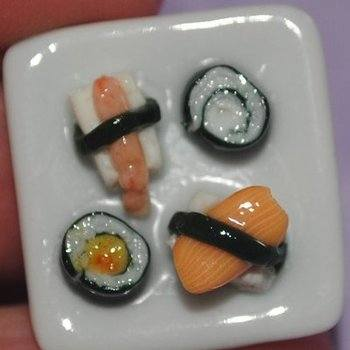 Sushi Ring Individual Pieces Unique Handmade