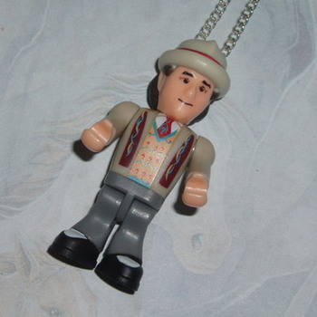 Doctor Who Figure Pendant 7th Sylvester McCoy Umbrella