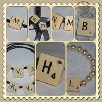 All Scrabble Letter Jewellery Using Vintage Tiles