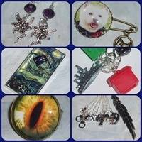 All Brooches Earrings Pendants Rings Bookmarks etc