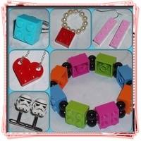 All Lego Jewellery with New and Re-Cycled Bricks