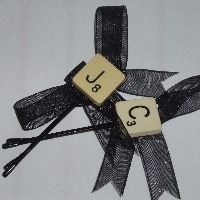 Scrabble Hair Accessories