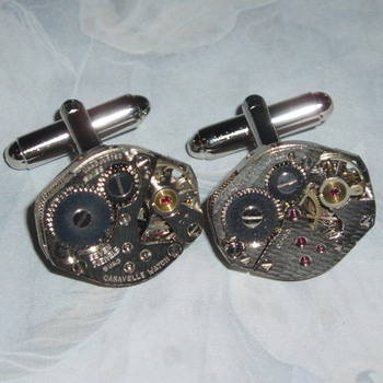 Steampunk Cufflinks Honeycomb Vintage Watch Movements Wedding