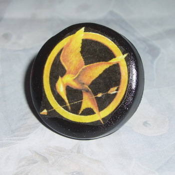 Hunger Games Inspired Ring Mocking Jay Fimo Handmade