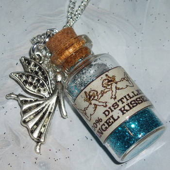 Glitter Bottle Pendant PixieAngel Charm