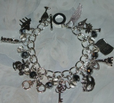 50 Shades Of Grey Charm Bracelet Charms Crystals Handmade