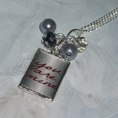 50 Shades of Grey Pendant Necklace You Are Mine Photo Charm