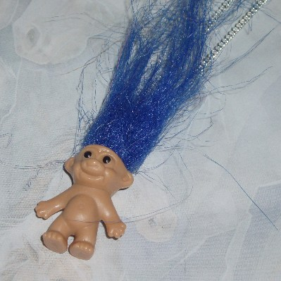 Troll Pendant Hair 70's Retro