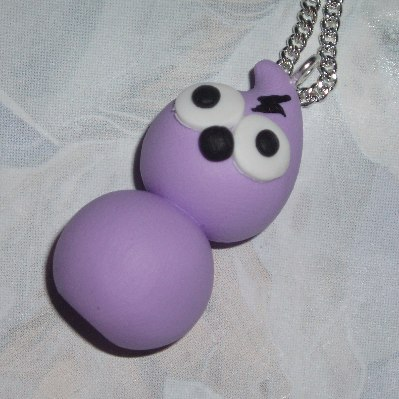 Zingy Stardust Pendant Necklace Handmade Energy Fimo Purple