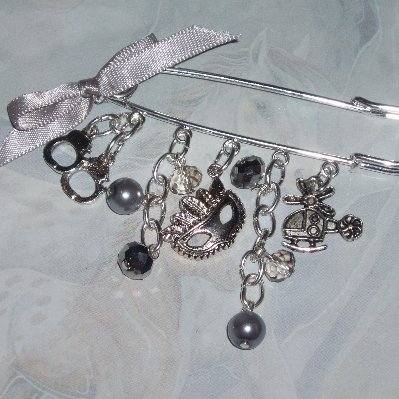50 Shades of Grey Kilt Pin Helicopter Handcuffs Mask Charms