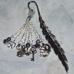50 Shades Grey Bookmark Feather Tassel Charms Handcuffs Mask