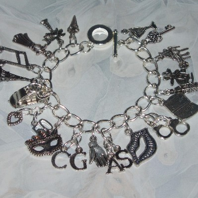 50 Shades Of Grey Charm Bracelet Loaded Charms Initials