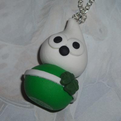 Zingy Bhoy Blob Pendant Necklace Celtic Green Football