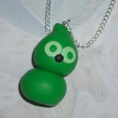 zingy green blob pendant