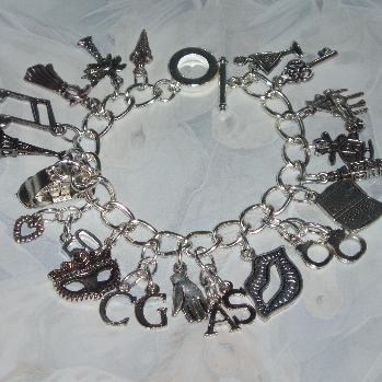 50 shades of grey charm bracelet loaded