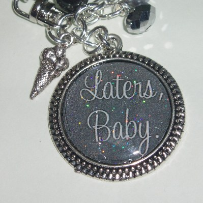 50 Shades Grey Keyring Bag Charm Laters Baby Ice Cream