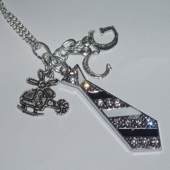 50 shades of grey tie charm necklace 2