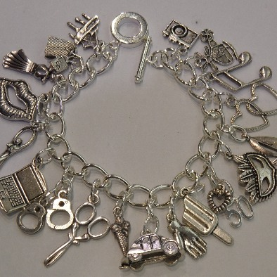 50 Shades Of Grey Charm Bracelet Loaded Charms Handmade