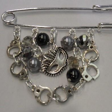 50 Shades of Grey Kilt Pin Handcuffs Charm