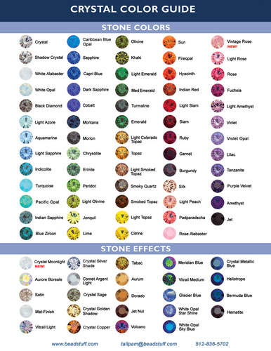 swarovski colour chart