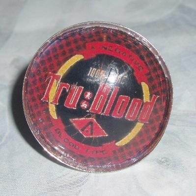 True Blood Inspired Ring V Logo Tru Vampire Blood