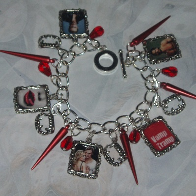 True Blood Charm Bracelet Photo Charms Fangs Spikes Blood