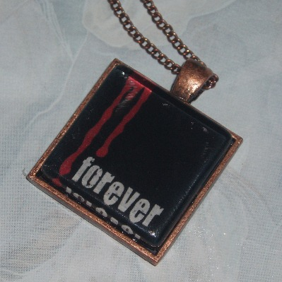 True Blood Pendant Bloody Forever Glass Cabochon