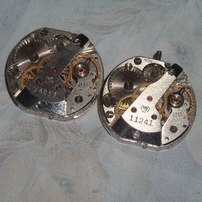 Steampunk Cufflinks Vintage Round Watch Movements Wedding