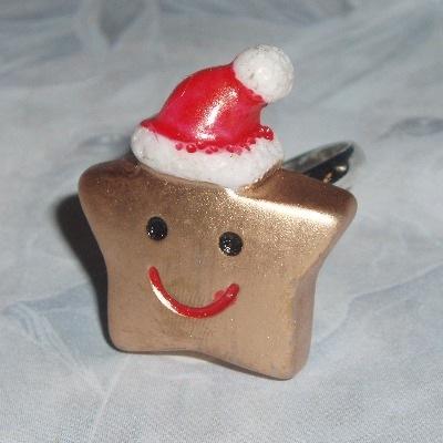 Star Ring Christmas Santa Hat Smiley Face