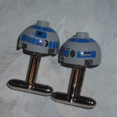 Lego Star Wars Cufflinks R2D2 Heads Geek Retro Kitsch