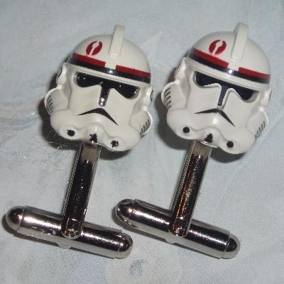 Lego Stromtrooper Cufflinks Star Wars Clone Trooper Helmets