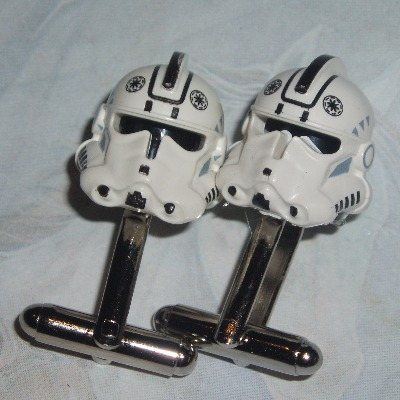 Lego Stromtrooper Cufflinks Star Wars Clone Trooper Pilot Helmets