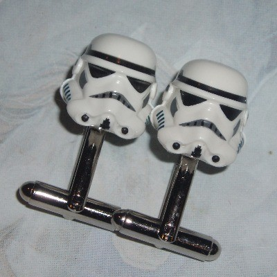 Lego Stormtrooper Cufflinks Star Wars White Driver Helmets
