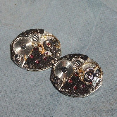 Steampunk Cufflinks Vintage Watch Movements Wedding Groom
