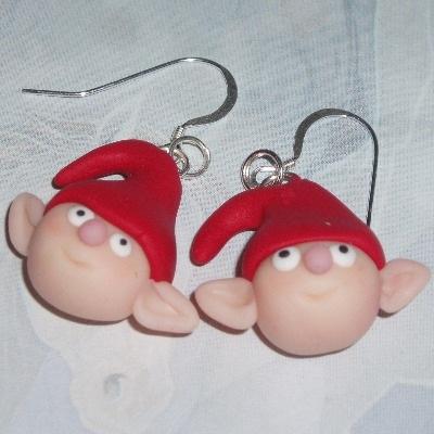 Iggy The Elf Earrings Nightmare Christmas Sterling