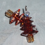 swarovski christmas tree earrings chystal copper