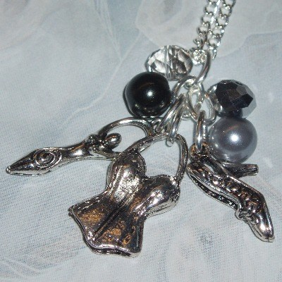 50 Shades Grey Listen Inner Goddess Cluster Charm Necklace