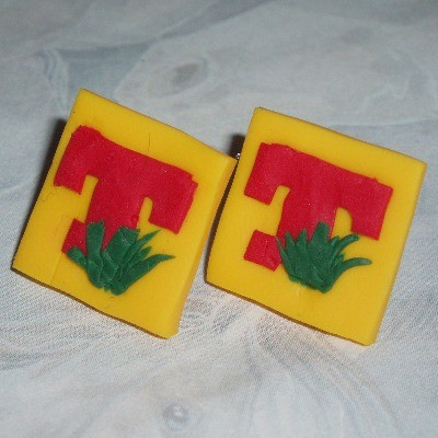 T In The Park Earrings Stud Fimo Sterling TITP Concerts Festivals